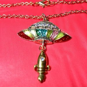 Spaceship Necklace